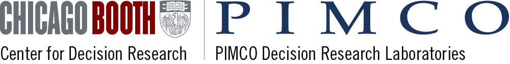 Chicago Booth Pimco The PIMCO Decision Research Laboratories Center for Decision Research