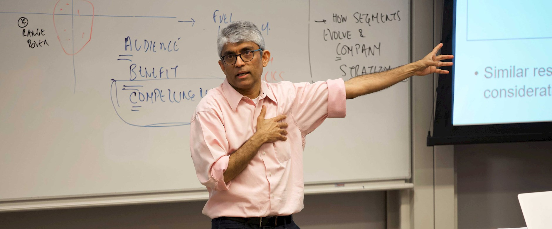 Pradeep Chintagunta teaching at the Harper Center