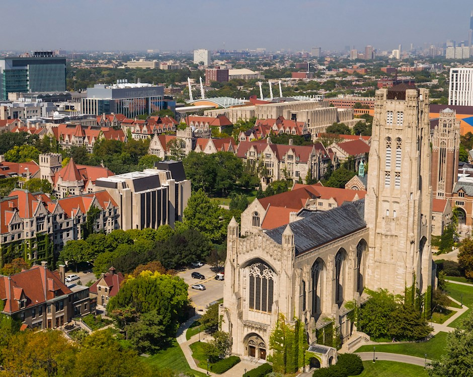 University of Chicago campus overhead view