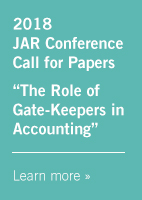 2018 JAR Conference Call for Papers -- Learn More »