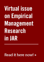 JAR Virtual issue on Empirical Management Research in JAR