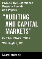 PCAOB-JAR Conference Program Agenda and Papers