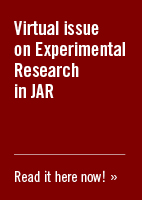 Virtual issue on Experimental Research in JAR