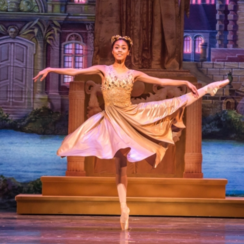 Joffrey Ballet ballerina performing The Nutcracker