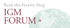 Read the faculty blog | IGM Forum >