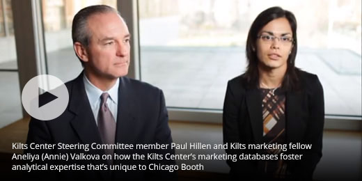 Kilts Center Steering Committee member Paul Hillen and Kilts marketing fellow Aneliya (Annie) Valkova on how the Kilts Center's marketing databases foster analytical expertise that's unique to Chicago Booth