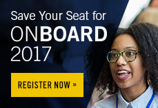 Save your seat for On Board 2017. Register now.