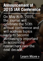 Announcement of 2015 Jar Converence: On May 8-9, 2015, the journal will celebrate the 50th annual conference.