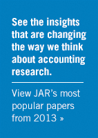 View JAR's most popular papers from 2013
