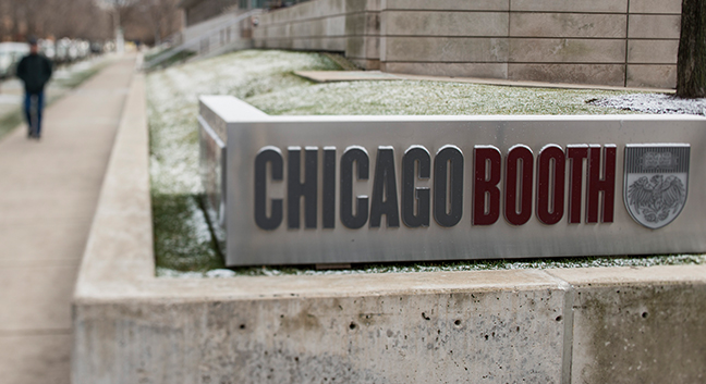 Chicago Booth Campus Signage