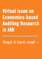 Virtual issue on Economics-based Auditing Research in JAR -- Read it here now!