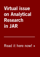 Virtual issue on Analytical Research in JAR -- Read it here now »